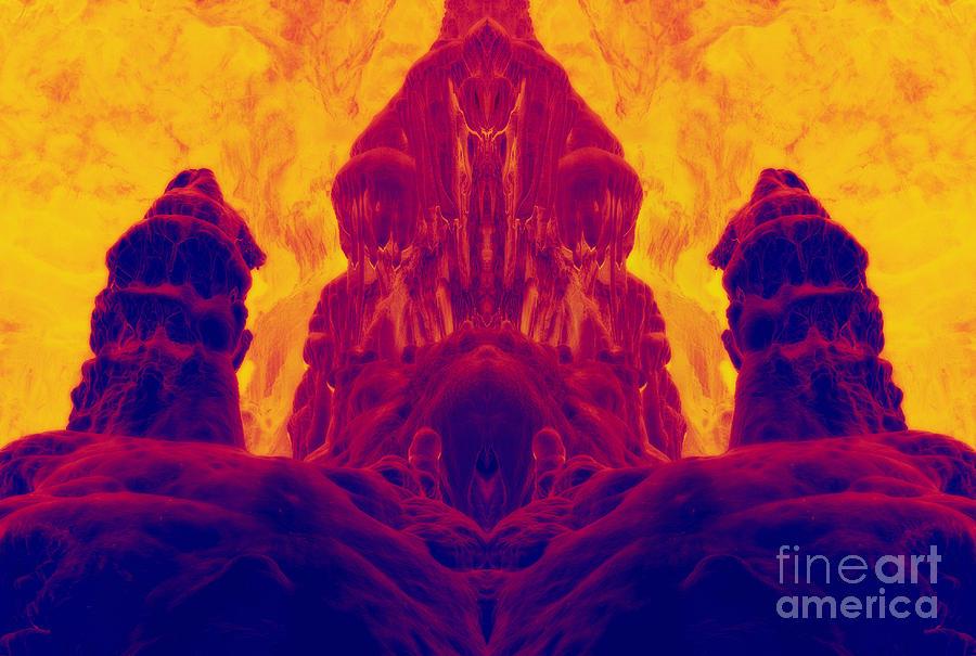Fossilized Dwarf Digital Art