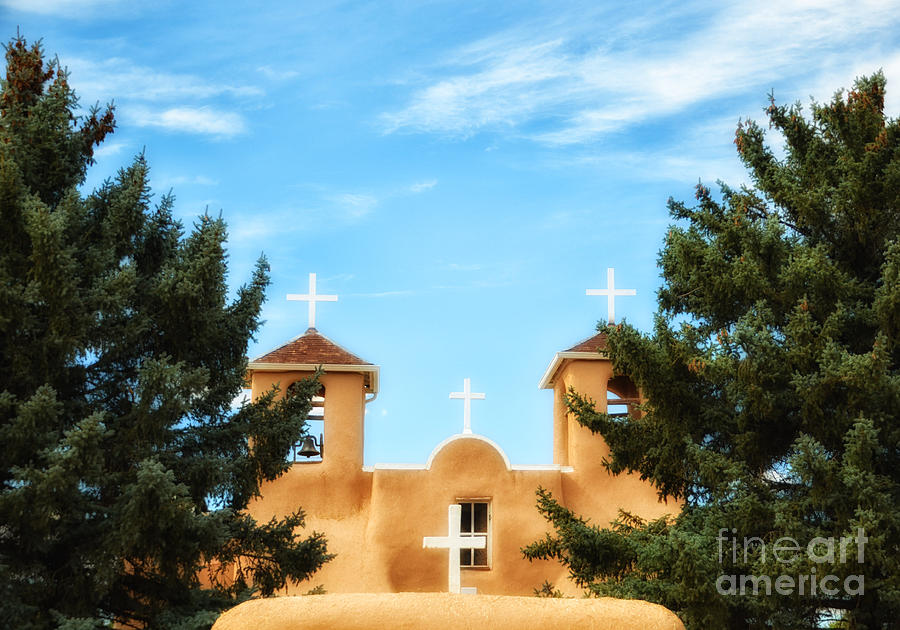 Church Photograph - Four Crosses by Tamera James