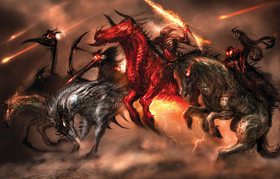 Four Horsemen Digital Art