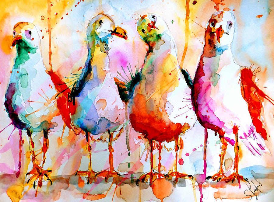 Four In A Row Painting  - Four In A Row Fine Art Print