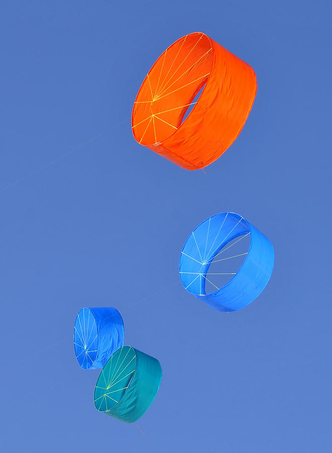 Four Kites Photograph  - Four Kites Fine Art Print