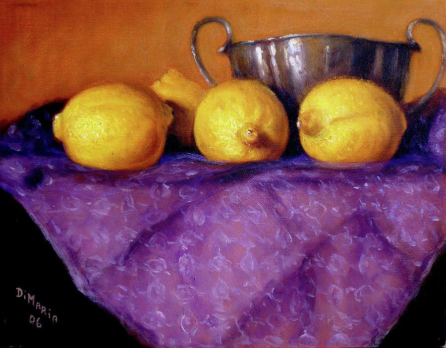 Four Lemons Painting
