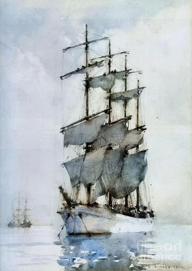 Four Masted Barque Painting  - Four Masted Barque Fine Art Print
