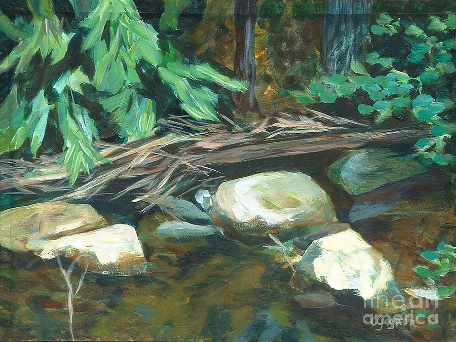Four Rocks Ashby Painting  - Four Rocks Ashby Fine Art Print