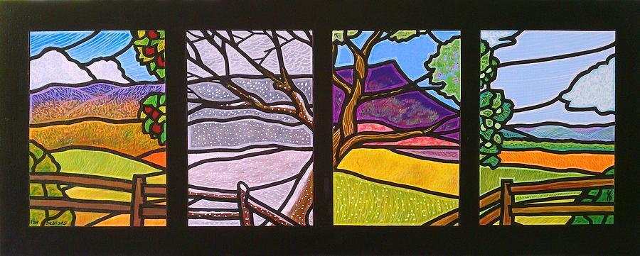 Four Seasons Painting By Jim Harris