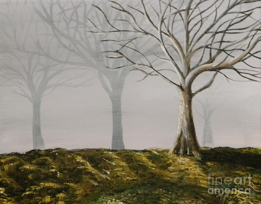 Four Trees Painting  - Four Trees Fine Art Print
