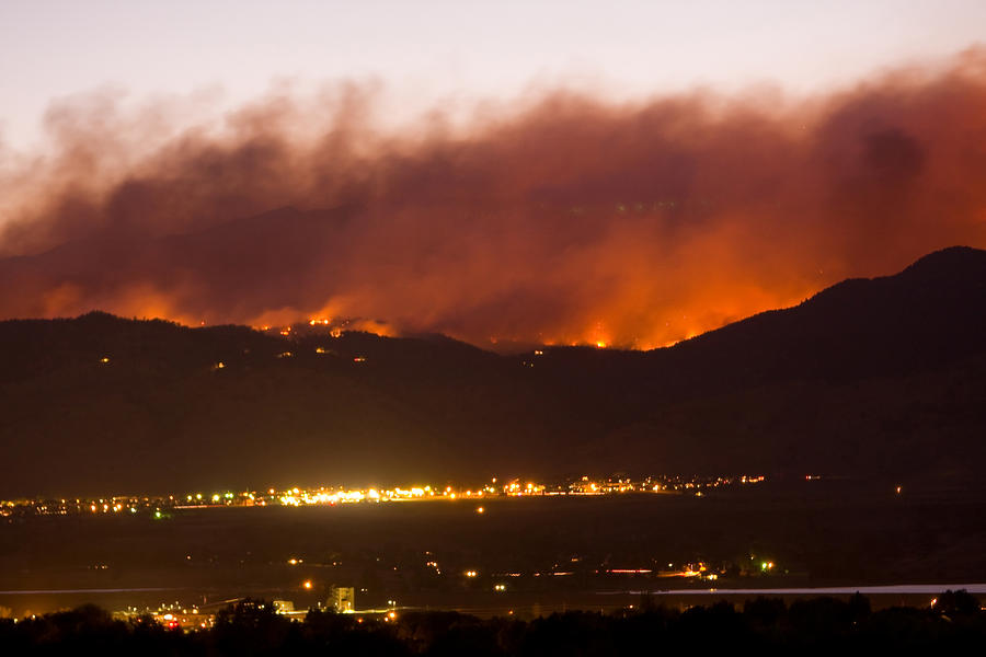 Fourmile Canyon Fire Burning Above North Boulder Photograph