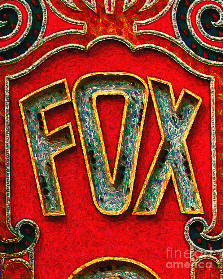 Fox Theater Oakland Sign Photograph