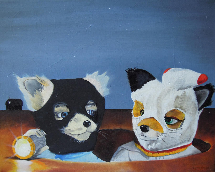 Foxes From The Movie fantastic Mr. Fox Painting