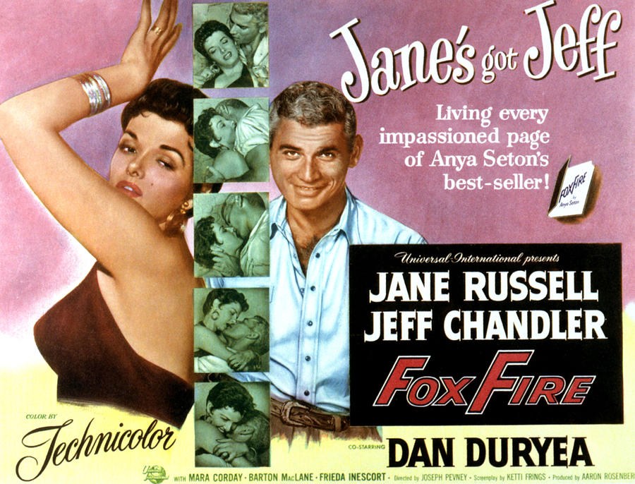 Foxfire, Jane Russell, Jeff Chandler Photograph  - Foxfire, Jane Russell, Jeff Chandler Fine Art Print