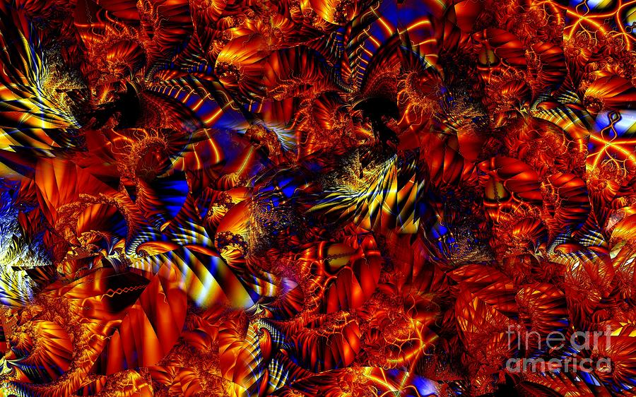 Fractal Combustion Digital Art  - Fractal Combustion Fine Art Print