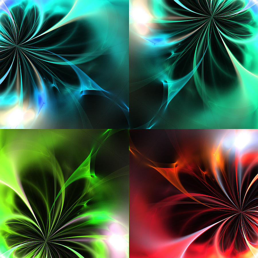 Fractal Seasons 2 Digital Art  - Fractal Seasons 2 Fine Art Print