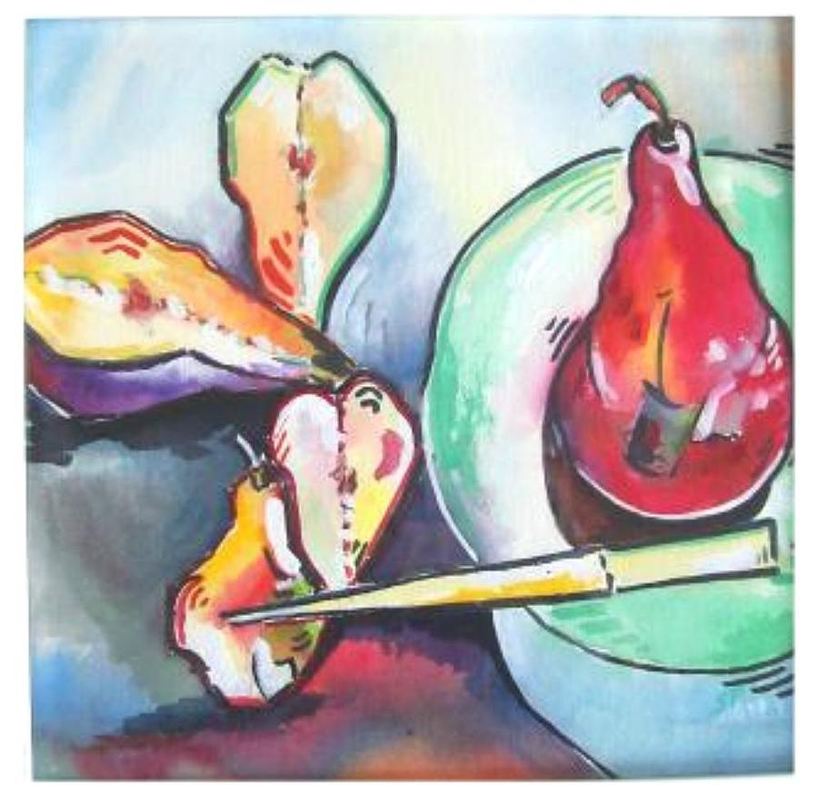 Fractured Apple Painting  - Fractured Apple Fine Art Print