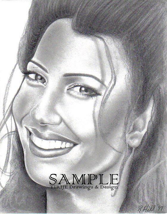Portraits Drawing - Fran Drescher by Rick Hill