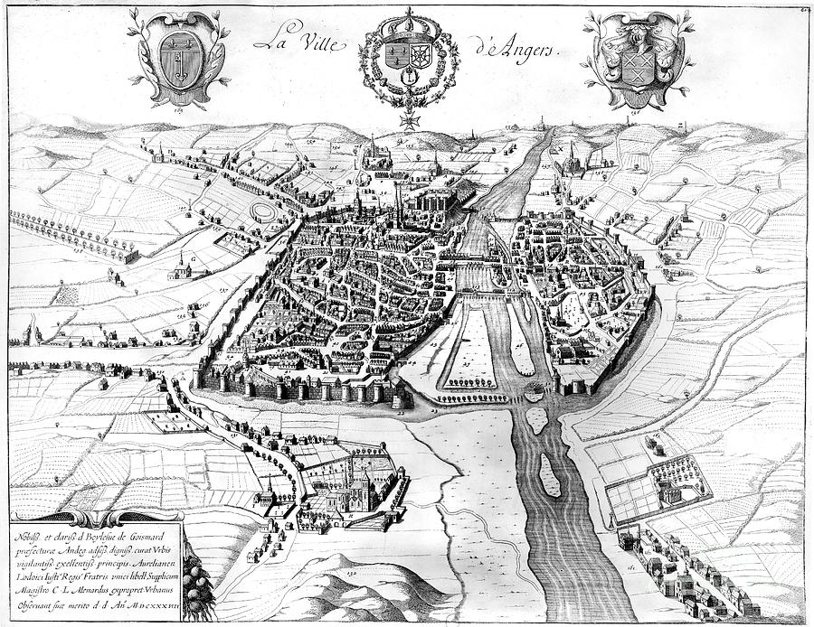 France: Walled City, 1688 Photograph  - France: Walled City, 1688 Fine Art Print