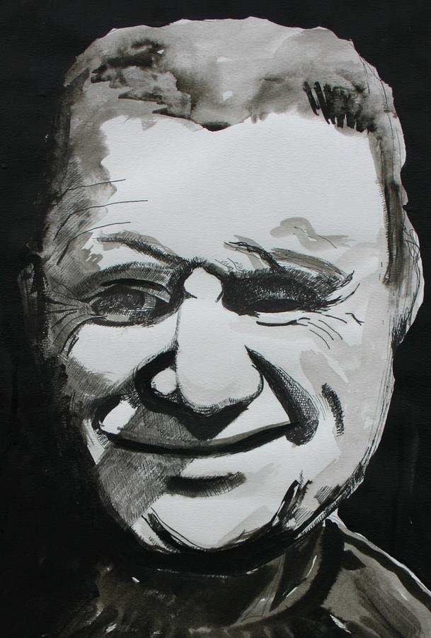 Francis Bacon (28 October 1909 – 28 April 1992) Drawing - Francis Bacon Study by Gerard Dillon