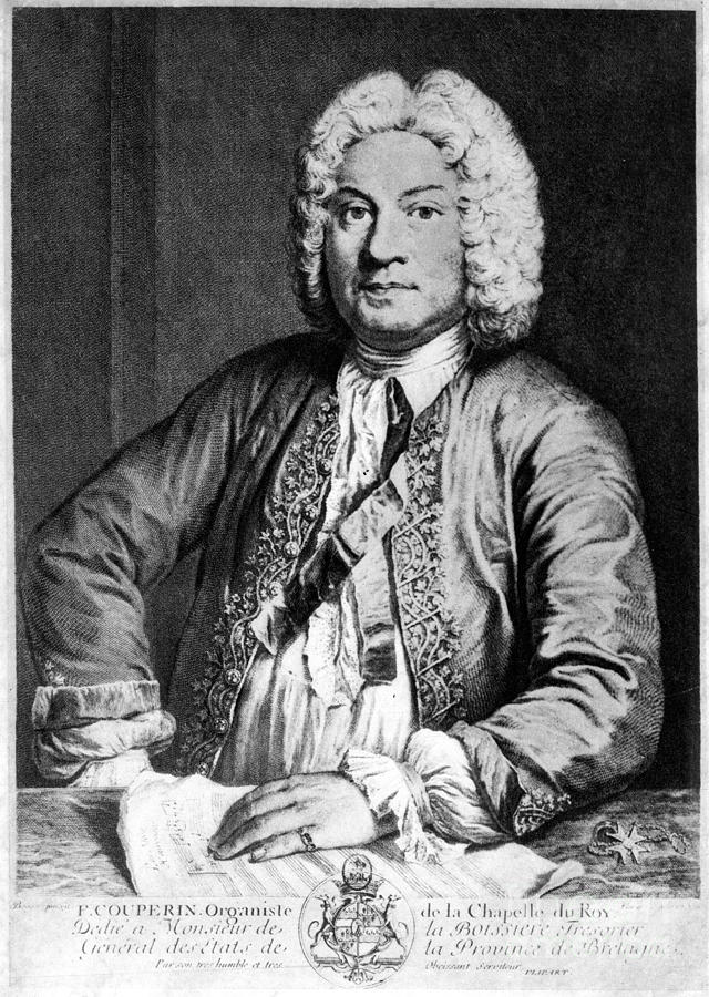 Francois Couperin (1668-1733). French Composer And Organist. Copper Engraving, 1725, By Joseph Flipart After A. Bouys Photograph