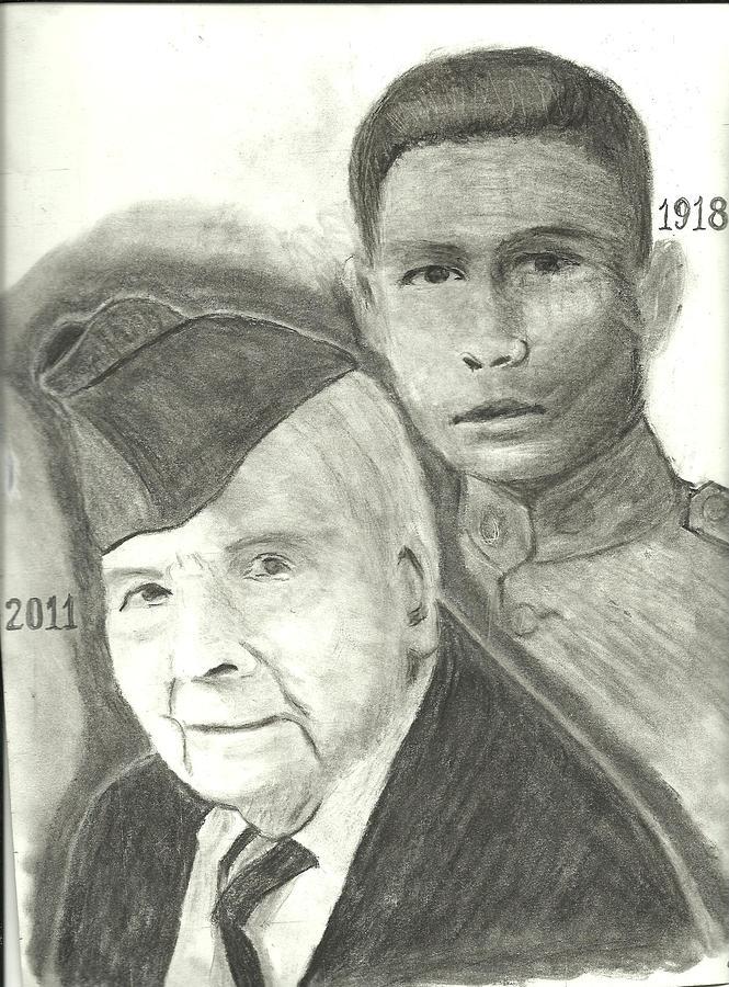 Frank Buckles Veteran Drawing