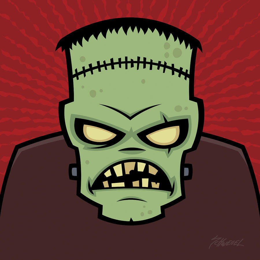 Frankenstein Monster Drawing  - Frankenstein Monster Fine Art Print