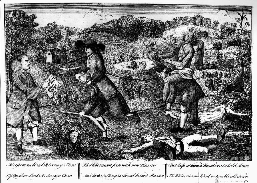 1764 Photograph - Franklin: Cartoon, 1764 by Granger