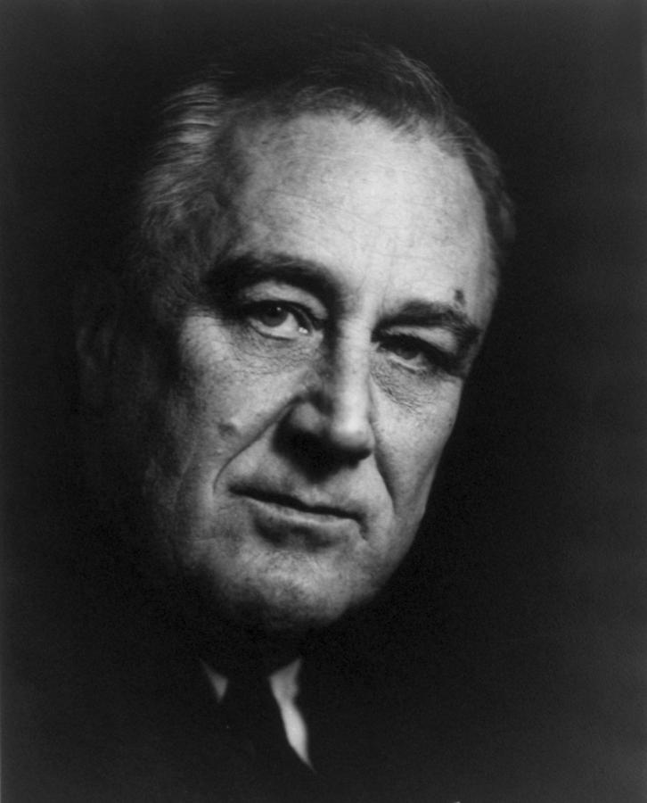 Franklin Delano Roosevelt  - President Of The United States Of America Photograph  - Franklin Delano Roosevelt  - President Of The United States Of America Fine Art Print