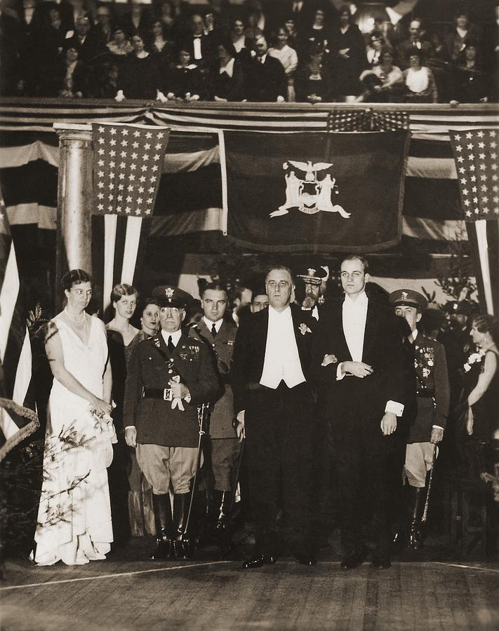 Franklin Roosevelt Inaugurated Photograph