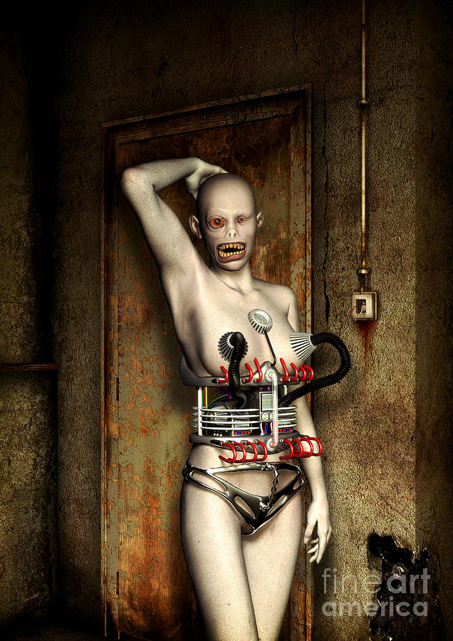 Freaks - The First Girl In The Basment Digital Art