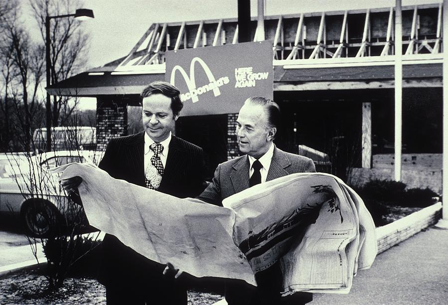Fred Turner And Ray Kroc The Executive Photograph  - Fred Turner And Ray Kroc The Executive Fine Art Print