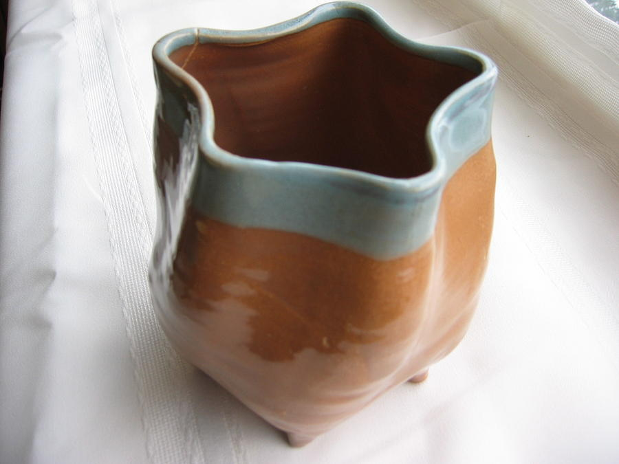 Free-form Pentagon Vase  Ceramic Art