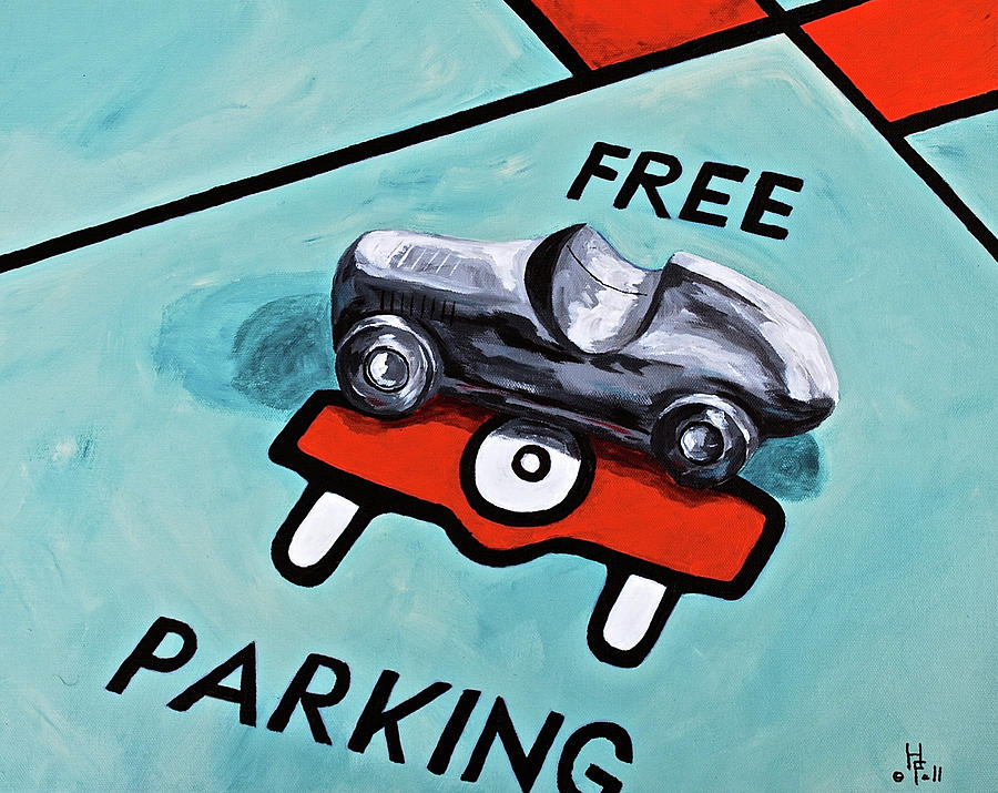 Free Parking Painting  - Free Parking Fine Art Print
