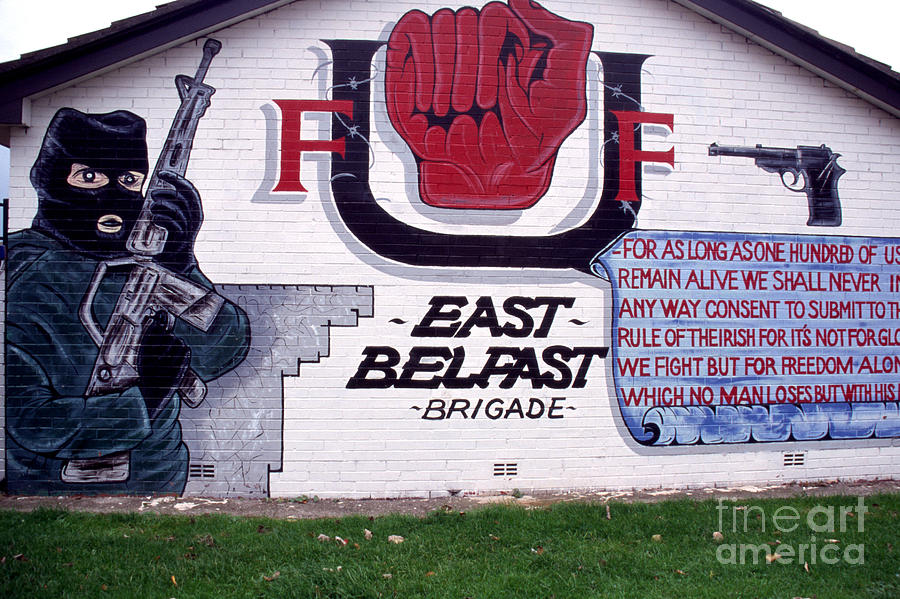 Newtownards Road Photograph - Freedom Corner Mural Belfast by Thomas R Fletcher