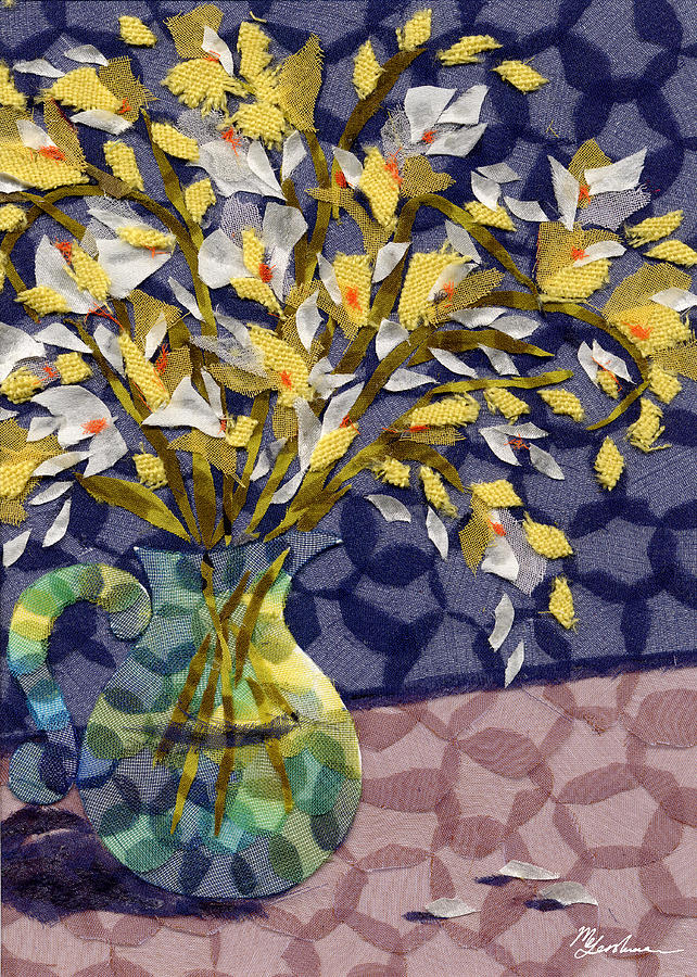 Flowers Tapestry - Textile - Freesia by Marina Gershman