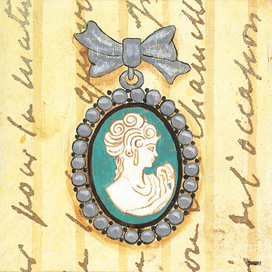 French Cameo 1 Painting  - French Cameo 1 Fine Art Print