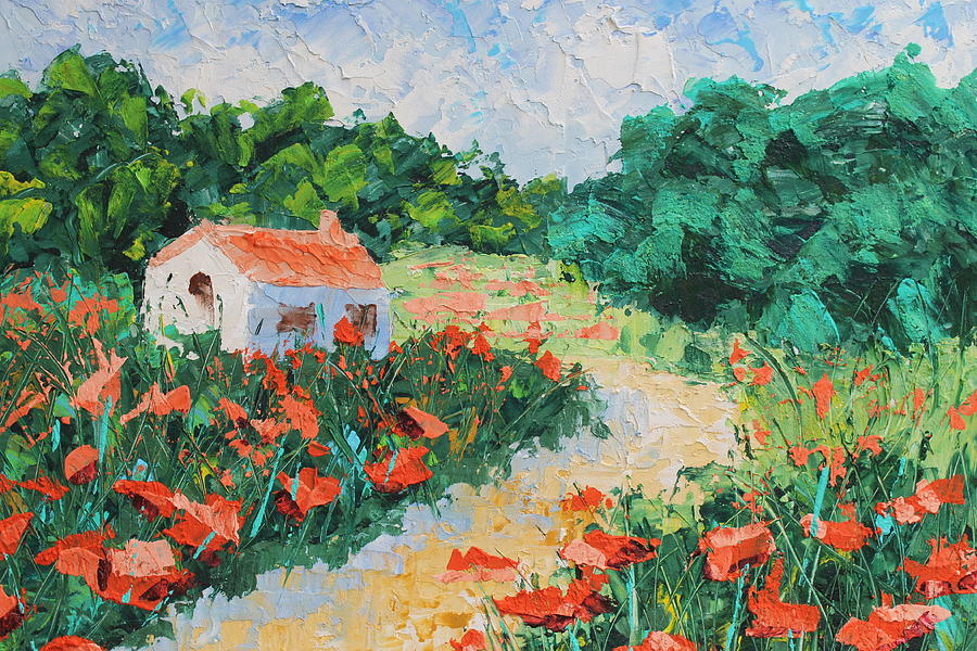French Cottage Painting  - French Cottage Fine Art Print