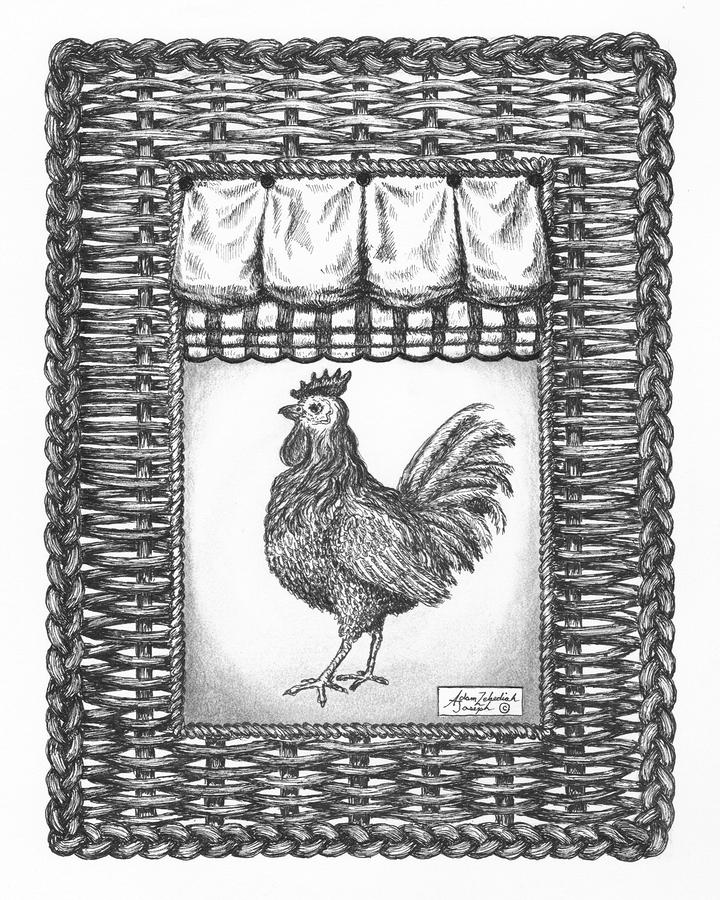 French Country Rooster Drawing