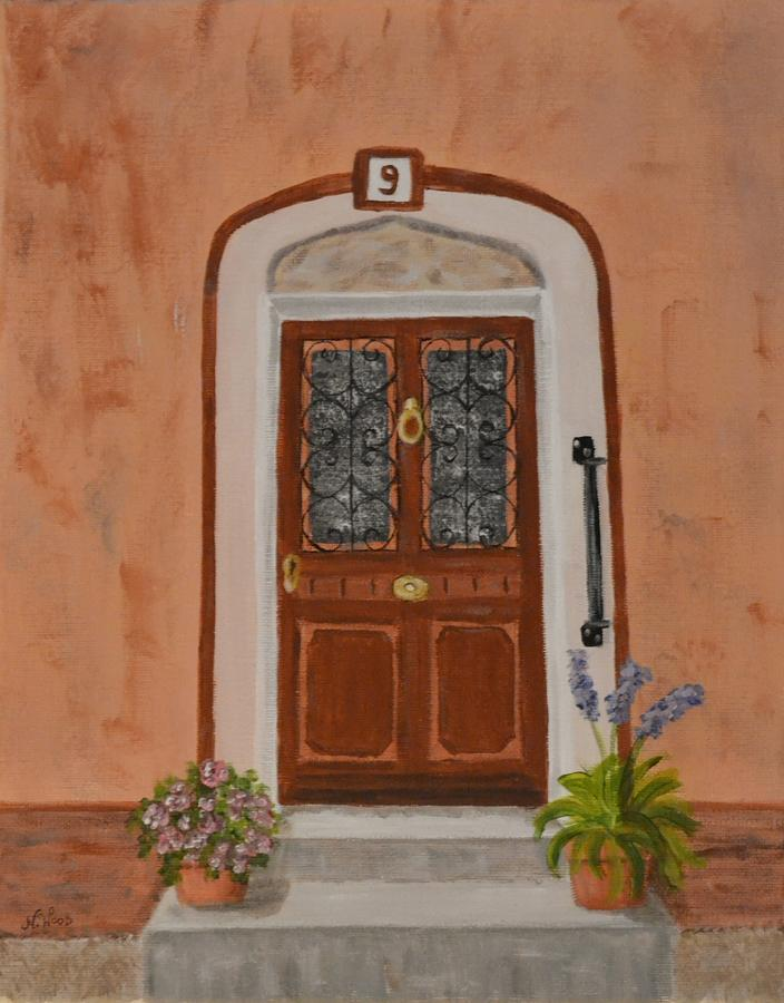 French Door Number Nine  Painting  - French Door Number Nine  Fine Art Print