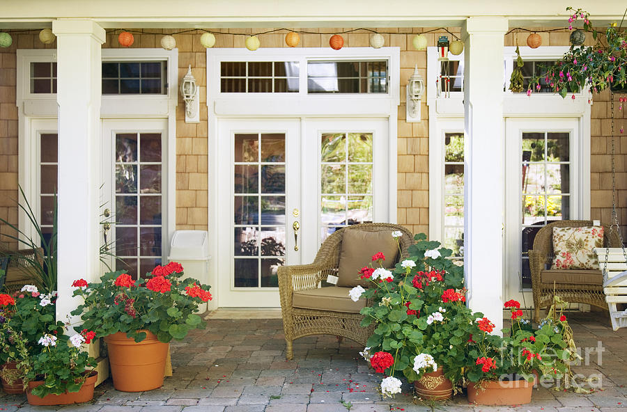 French Doors And Patio Photograph