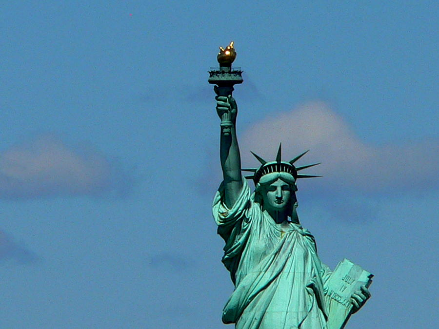 Statue Of Liberty Photograph - French Gift by Eric Tressler