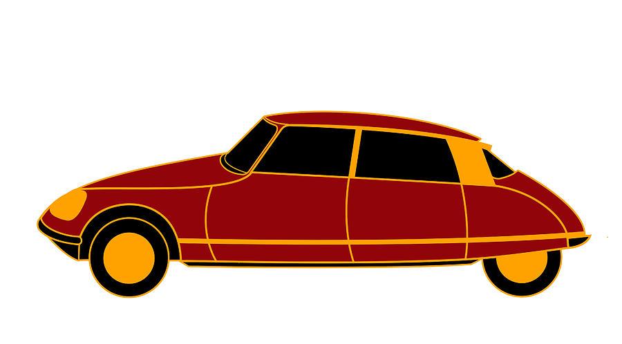 French Iconic Car Digital Art - French Iconic Car - Virtual Car by Asbjorn Lonvig