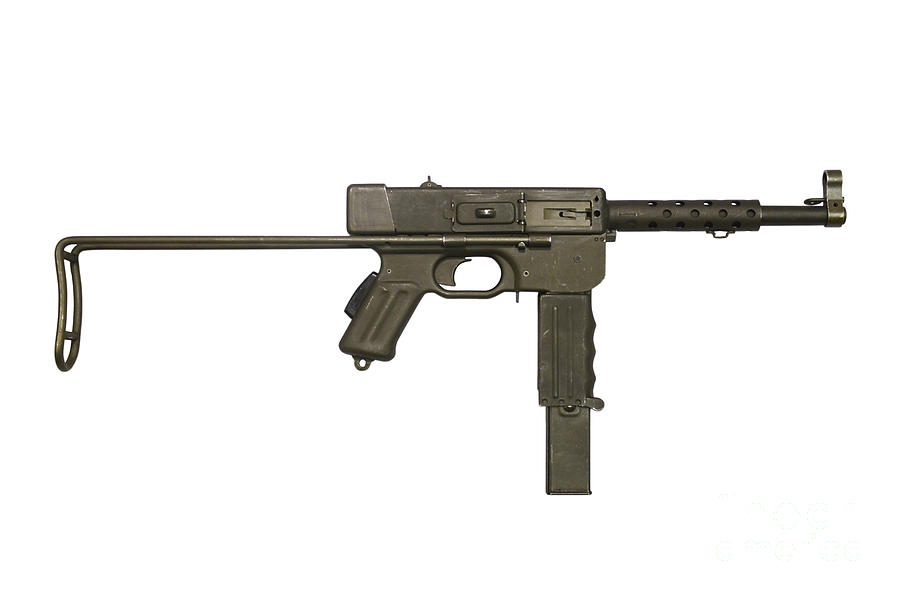 French Mat-49 Submachine Gun Photograph