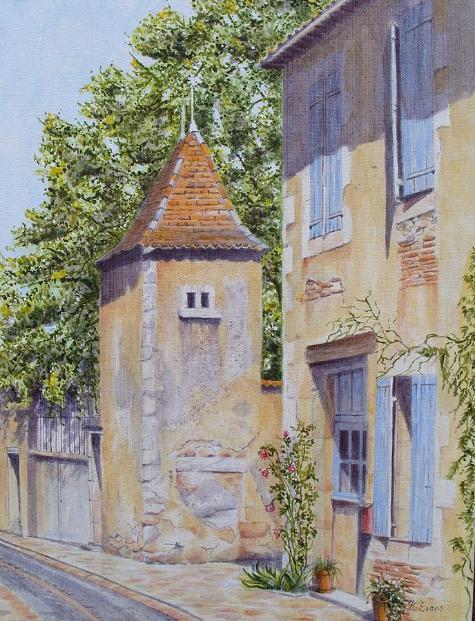 French Pigeonnier Painting  - French Pigeonnier Fine Art Print