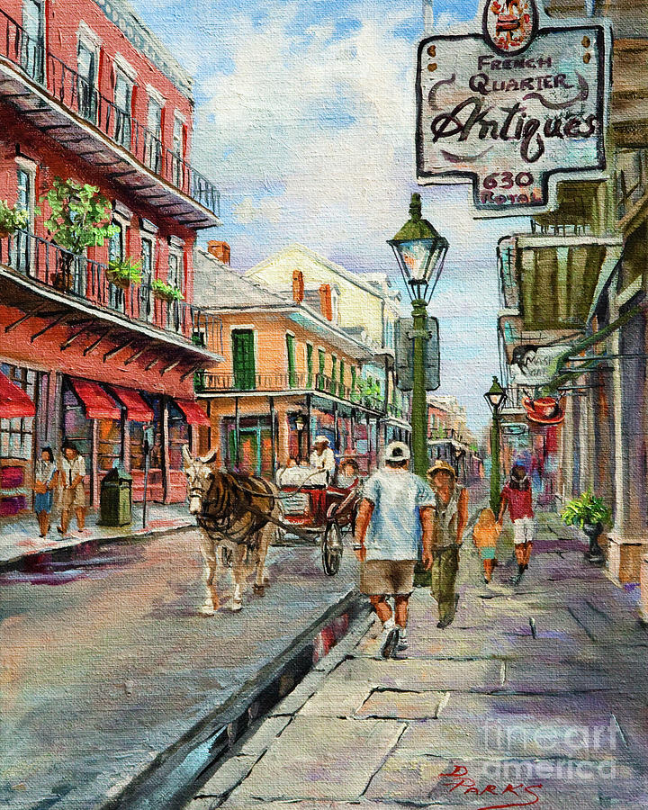 French Quarter Antiques Painting  - French Quarter Antiques Fine Art Print