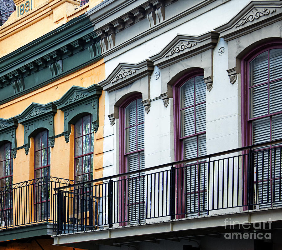French quarter balconies photograph by kathleen k parker for French quarter balcony