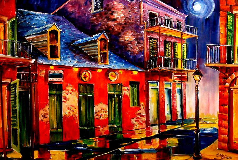 French Quarter Dazzle Painting  - French Quarter Dazzle Fine Art Print