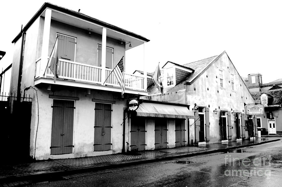 French Quarter Tavern Architecture New Orleans Conte Crayon Digital Art Digit