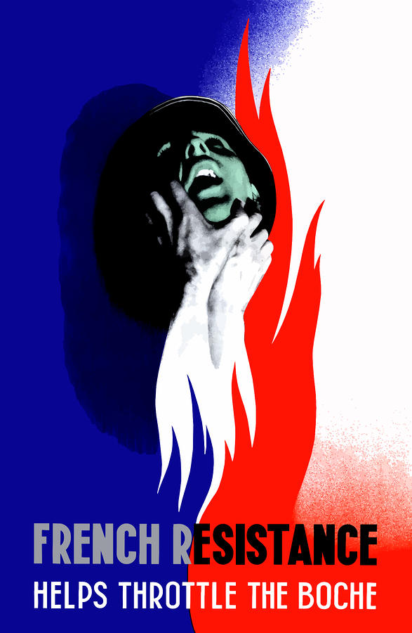 French Resistance Helps Throttle The Boche Digital Art