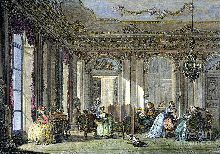 french salon 18th century photograph by granger