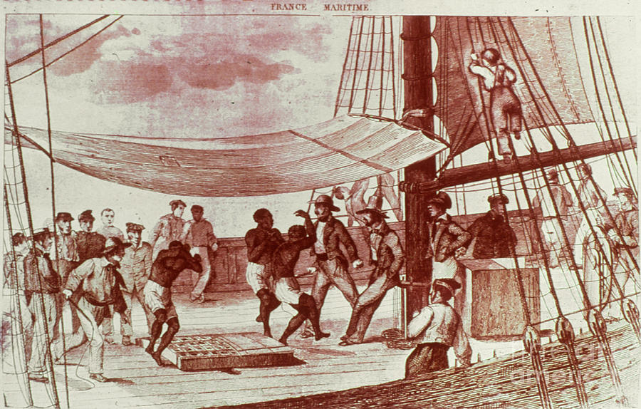 French Slave Ship, 18th Cent Photograph
