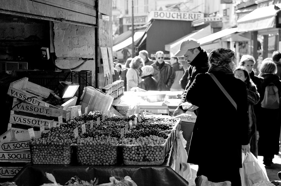 French Street Market Photograph