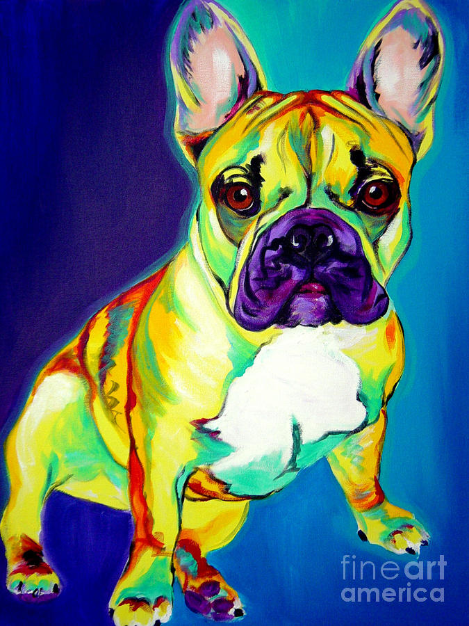 Frenchie - Tugboat Painting  - Frenchie - Tugboat Fine Art Print